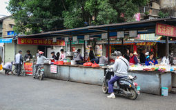 People at the street market in Nanning, China Stock Photos