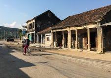 People on street in Ninh Hoa, Vietnam Royalty Free Stock Photos
