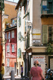 People on street in old city of Nice Royalty Free Stock Image