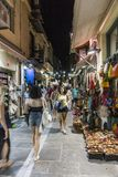 Street in Rethymno Stock Photo