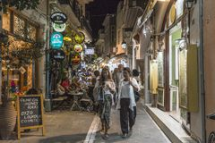Street in Rethymno Royalty Free Stock Images