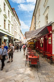 People in the street in Old Town, Bratislava, Slovakia Royalty Free Stock Images