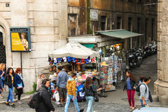 People on the street in Rome, Italy Stock Photography