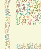 People on the street seamless pattern background Royalty Free Stock Photography