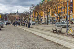 People on street in Stockholm Stock Image