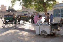 People and street vendor Stock Images