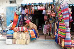 People and street vendor Royalty Free Stock Photography
