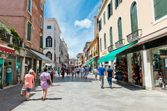People on the street in Venice, Italy Royalty Free Stock Photo