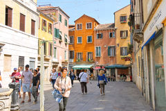 People on the street in Venice, Italy Royalty Free Stock Photography
