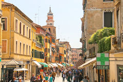 People on the street in Venice, Italy Stock Photography