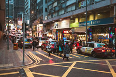 People on street after work in Hong Kong. March, 2017. People on street after work in Hong Kong Royalty Free Stock Images