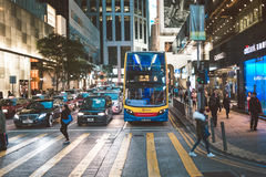 People on street after work in Hong Kong. March, 2017. People on street after work in Hong Kong Stock Photos