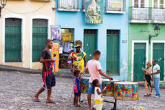 People on the streets of Bahia stock photography
