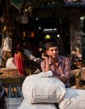 People in the streets of India. Work, play and survival royalty free stock photo