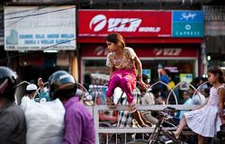 People in the streets of India. Work, play and survival royalty free stock photography