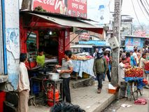 People and streets of Kathmandu, Nepal Stock Photos