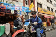 The people on the streets of La Paz city. Royalty Free Stock Photography