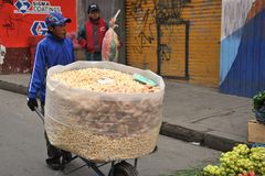 The people on the streets of La Paz city Stock Image