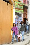 The people on the streets of La Paz city Royalty Free Stock Image
