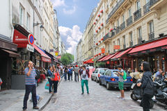 People on the streets of Paris. Royalty Free Stock Photography