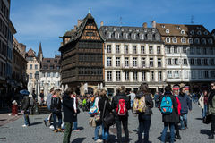 People on streets of Strasbourg, France Royalty Free Stock Photography