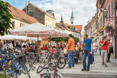 People on the streets of Varazdin Stock Image
