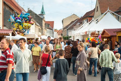 People on the streets of Varazdin Stock Images