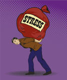 People in stress situations concept vector illustration pop art style. Stock Photography