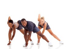 People stretching exercise Stock Photos