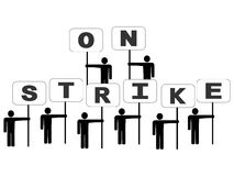People on strike Royalty Free Stock Photography