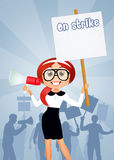 People on strike Royalty Free Stock Images