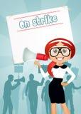 People on strike Stock Image