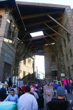 People stroll at Fatimid Cairo Royalty Free Stock Photo