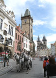 People Strolling in the Charming Old Town of Prague Royalty Free Stock Photo