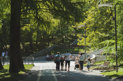 People strolling through the park Stock Photography