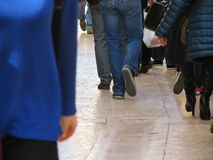 People strolling in the streets of Verona city centre Stock Images