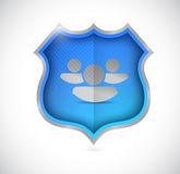 People strong shield concept illustration Royalty Free Stock Photography