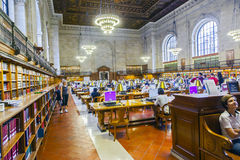 People study in the New York Public Royalty Free Stock Photo
