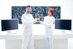People studying in a chemistry lab Stock Photography
