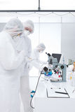 People studying in a lab Stock Photography