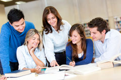 People studying at the library Royalty Free Stock Image
