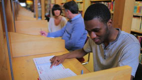 People studying in the library Royalty Free Stock Photos