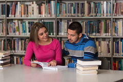 People Studying In A Library Royalty Free Stock Image