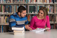 People Studying In A Library Royalty Free Stock Photo