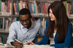 People Studying In A Library Stock Image