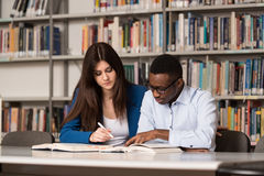 People Studying In A Library Stock Photography