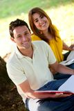People studying outdoors Royalty Free Stock Images