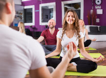 People studying position at yoga Royalty Free Stock Photo