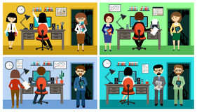 People in the style flat design Stock Image