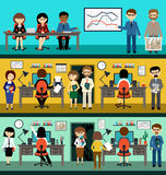 People in the style flat design Royalty Free Stock Images